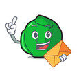 with envelope brussels character cartoon style vector image vector image