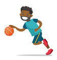 young black playing basketball vector image vector image
