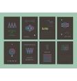modern creative cards vector image
