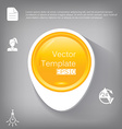 3d circle plastic glossy element for infographic vector image