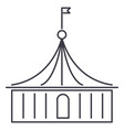 circus line icon sign on vector image