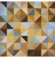 Abstract triangles brown background vector image