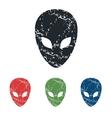 Alien grunge icon set vector image vector image