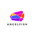 angel fish geometric polygonal colorful logo icon vector image vector image