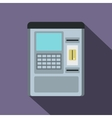 Atm machine icon flat style vector image vector image