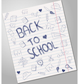Back to school blue pen ink vector image