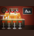 bar counter in pub or night club of vector image vector image