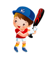 Baseball player swinging bat vector image vector image