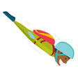 black sportsman performing skydive vector image vector image