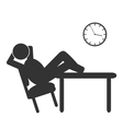 business office coffee break flat icon isolated vector image vector image