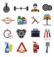 Car Service Icons Flat Set vector image
