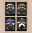 collection of halloween postcards vector image vector image
