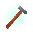 colored hammer vector image vector image