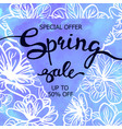 colorful watercolor poster spring sale vector image vector image