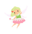 cute little winged fairy beautiful girl character vector image vector image