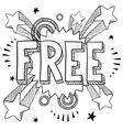 doodle pop free vector image vector image