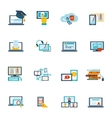 E-learning icon flat vector image vector image
