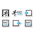 Emergency exit icons set vector image