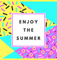 enjoy the summer banner vector image vector image