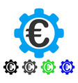 euro options flat icon vector image vector image