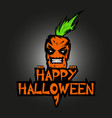 evil spirit in the form of an devil orange carrot vector image vector image