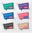 flat sale banner design templates in memphis vector image vector image