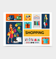 flat shopping infographic template vector image