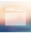 folder icon on blurred background vector image