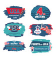 fourth of july usa happy independence day posters vector image vector image