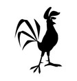 funny cartoon cock comic rooster character vector image