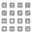 gray flat icon set 8 on rounded rectangle vector image vector image