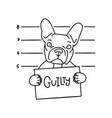 guilty concept bulldog bad boy dog with sign vector image