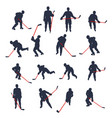hockey two colored set 02 vector image vector image