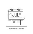 independence day linear icon vector image