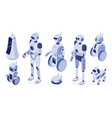 isometric robots digital robotic machines vector image vector image