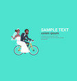just married african american couple riding vector image