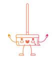 kawaii cartoon broom with wooden stick i in vector image vector image