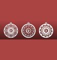 laser cut mandala set christmas balls coasters vector image vector image