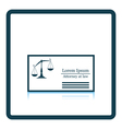 Lawyer business card icon vector image vector image