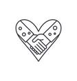 love fidelity line icon concept love fidelity vector image vector image