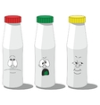 Milk smailing bottle set 008 vector image vector image