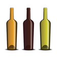 Mock up of the wine bottle vector image vector image