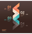 Modern arrow infographics origami style vector image vector image