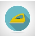 Modern iron flat icon vector image vector image