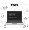 modern languages web programming web development vector image vector image