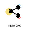 network icon on white background design vector image