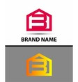 Number 3 logo logotype design with house vector image