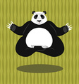 Panda Yoga Chinese bear on background of bamboo vector image