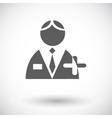 Person single icon vector image vector image
