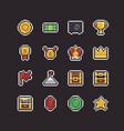 pixel art rewards vector image